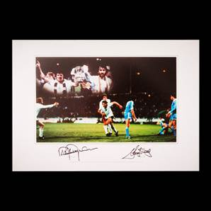 Steve Perryman And Ricky Villa Dual Signed Photo - Tottenham Hotspurs Legends
