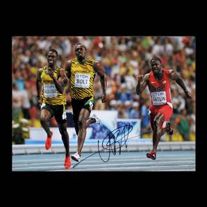 Usain Bolt Personally Signed Photo - Moscow World Championships 2013