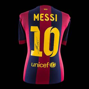 Lionel Messi Personally Signed Barcelona Shirt - Home 2014/2015