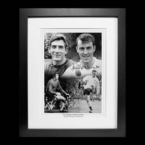 Pat Jennings & Jimmy Greaves Personally Signed Photo - Spurs Heroes, Framed