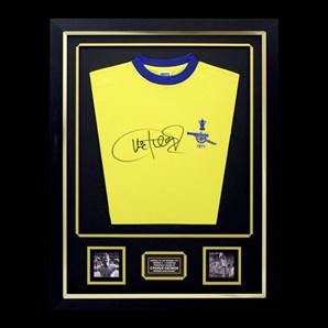 Charlie George Signed Arsenal Shirt - 1971 Double Winners, framed
