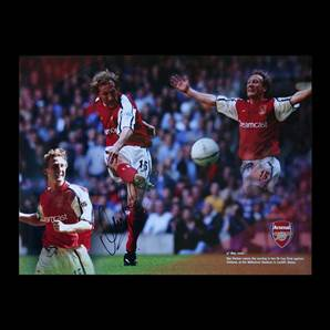 Signed montage of Ray Parlour's FA Cup final strike against Chelsea