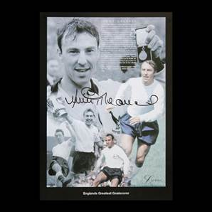 Jimmy Greaves Personally Signed montage - England's Greatest Goalscorer