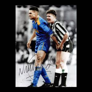 Vinnie Jones Signed Photo - Gazza Ball Squeeze