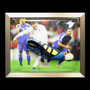 Wayne Rooney Personally Signed & Framed Football Boot - All Time Record England Goal Scorer