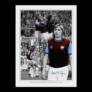 Alan Taylor Signed West Ham United Photo - 1975