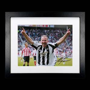 Alan Shearer Personally Signed Newcastle Photo - Toon Legend Large, framed