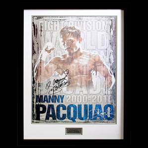 Manny Pacquiao Signed Boxing Poster - World Champion, framed