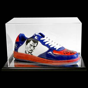 Manny Pacquiao Signed Boxing Trainer Shoe With Acrylic Display Case
