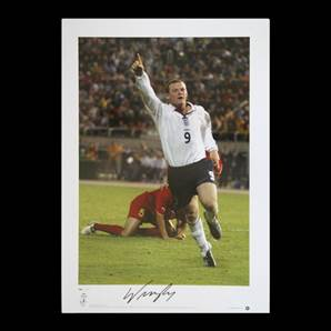 Wayne Rooney signed England print - All Time Record England Goal Scorer
