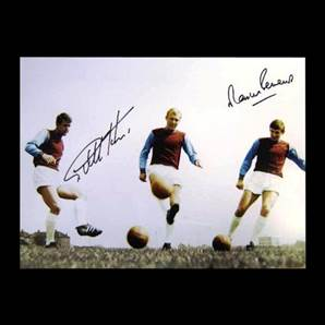 Sir Geoff Hurst and Martin Peters signed print - Irons On Fire