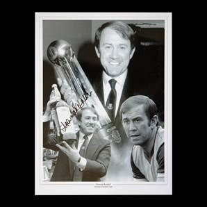 Howard Kendall autograph signed photo - Division One trophy