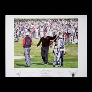 Colin Montgomerie Personally Signed print - Ryder Cup 2002