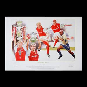 Tony Adams Personally Signed Arsenal art print - Double