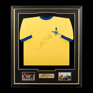 Charlie George Arsenal Signed Shirt - 1971 FA Cup, framed