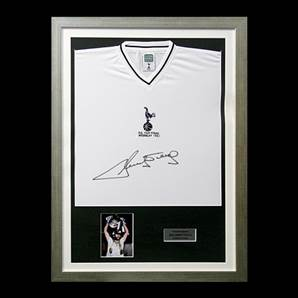 Ricky Villa signed shirt - Spurs 1981 FA Cup Final, Framed