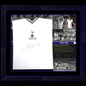 Ricky Villa Signed Shirt - Exclusive Limited Edition, Framed