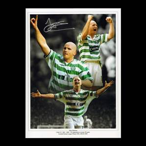 John Hartson Personally Signed Celtic Photo