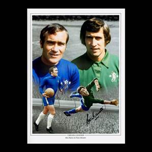 Ron Harris & Peter Bonetti Personally Signed Chelsea Photo