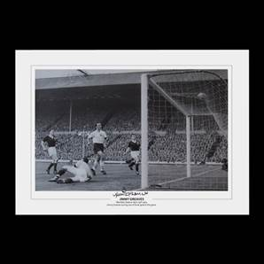 Jimmy Greaves signed print - England Hero