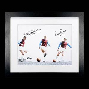 Sir Geoff Hurst & Martin Peters Personally Signed Photo - Irons On Fire, Framed