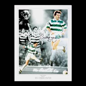 Celtic photo print monatage signed by Charlie Nicholas