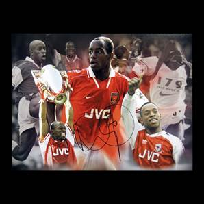 Ian Wright Personally Signed Arsenal montage - Gunners Legend