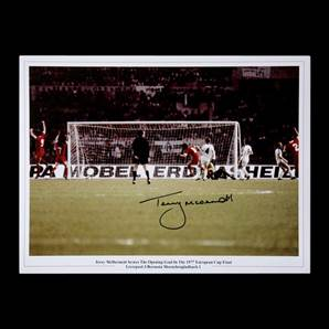Terry McDermott Personally Signed 1977 Liverpool European Cup Final photo