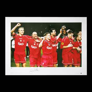 Gary McAllister Personally Signed Liverpool photo - 2001 UEFA Cup Final