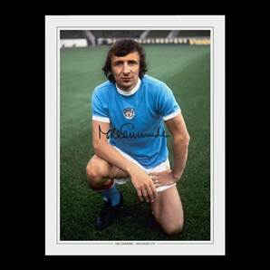 Manchester City photo signed by City legend Mike Summerbee