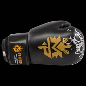 Manny Pacquiao Signed Boxing Glove - Black & Gold