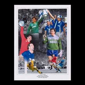Neville Southall signed Everton print