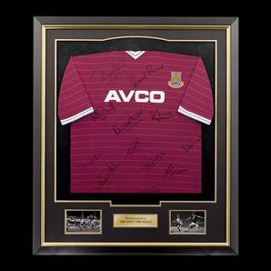 West Ham 1986 FA Cup Signed Shirt - Home Shirt, Framed