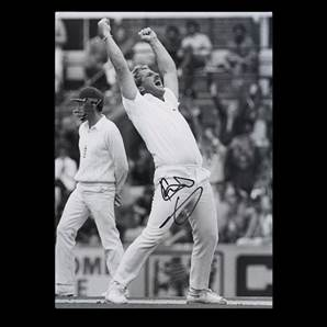Sir Ian Botham Personally Signed photo - Highest Wicket Taker
