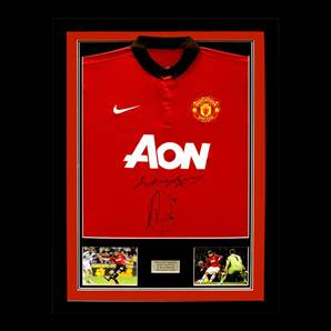 Van Persie & Rooney Signed & Framed Manchester United Shirt - 2013-2014