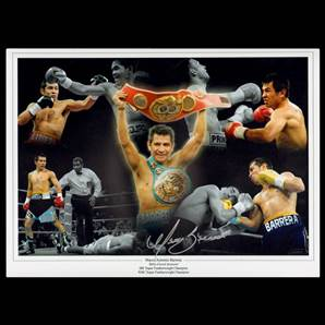 Marco Antonio Barrera Personally Signed Photo - Baby Faced Assassin