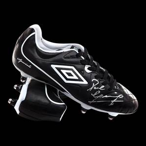 Paul Gascoigne Personally Signed Black Umbro Football Boot