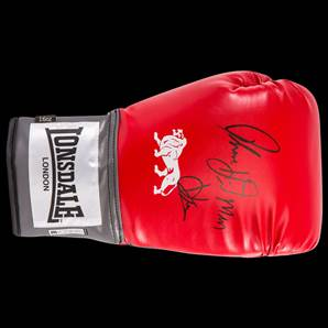 "Thomas ""The Hitman"" Hearns Signed Boxing Glove - Lonsdale 16oz"
