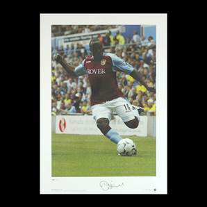 Darius Vassell signed print - Holte End Hero