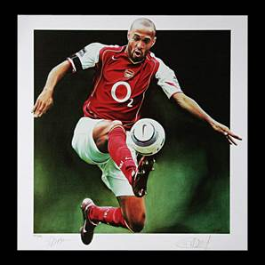 Thierry Henry Personally Signed Arsenal print - Gunners Hero