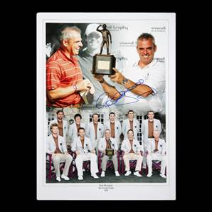 Paul McGinley Personally Signed photo montage - Vivendi Trophy