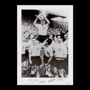 Dyson, Smith, Jones and Mackay Signed Spurs Photo - FA Cup Winners 1961
