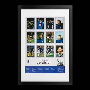 Ron Harris Signed Chelsea Poster - FA Cup Kings 1970, Framed