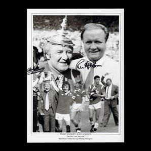 Tommy Docherty and Ron Atkinson Signed Photo - Manchester United