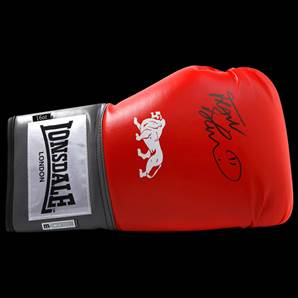Frank Bruno Personally Signed Boxing Glove Red - Lonsdale
