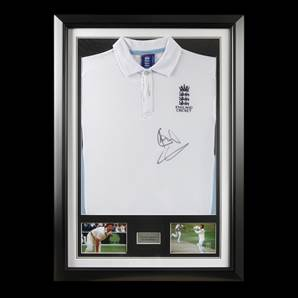 Sir Ian Botham Personally Signed Cricket Shirt - England, Framed