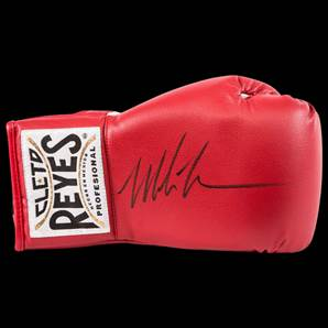 Mike Tyson Signed Boxing Glove - Red Reyes Glove