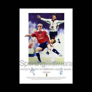Teddy Sheringham signed print - Teddy Boy