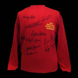 England 1966 World Cup Winners - replica signed shirt - 10 signatures