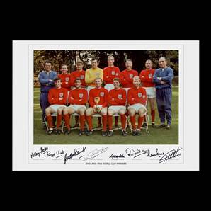 England 1966 World Cup Winning Team Photo - Signed by 8